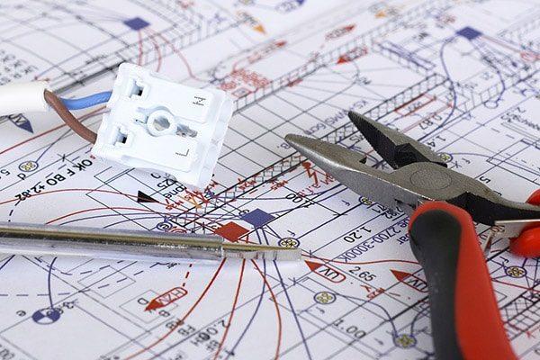 elektriker aalborg el-entreprise plantegning ledning